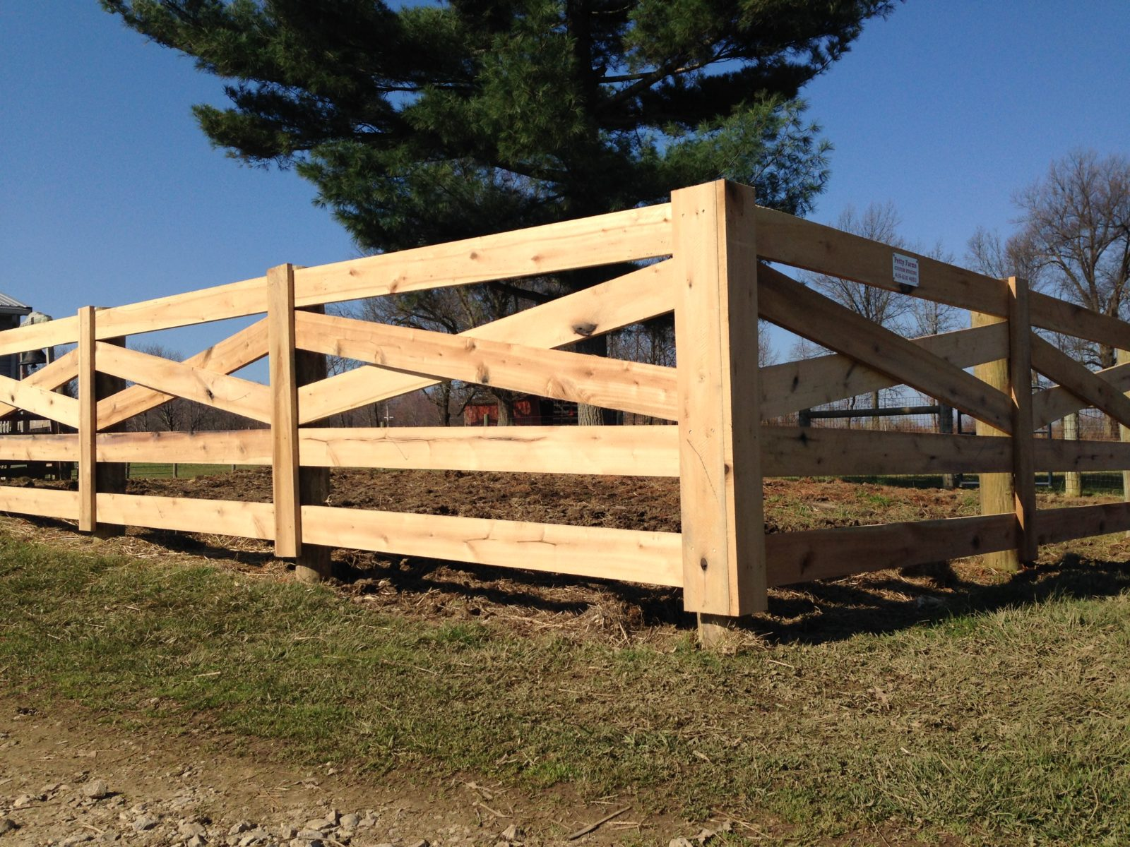 Wood Fence with crossbuck